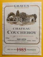 11973 - Château Coucheroy 1985 Graves - Bordeaux
