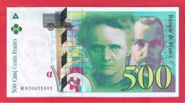 Curie  -  500 Francs 1994  -  état  SUP - 500 F 1994-2000 ''Pierre Et Marie Curie''