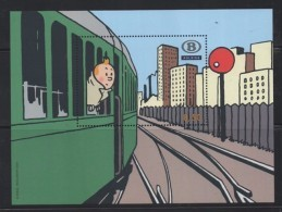 Année 2007 - Vignette TRV-BL12 (sans Numéro) - Tintin - Non Classificati