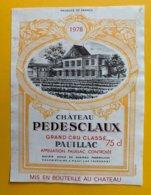 11976 - Château Pedesclaux 1978 Pauillac - Bordeaux
