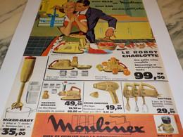 ANCIENNE PUBLICITE POUR ELLE ROBOT CHARLOTTE   DE MOULINEX 1960 - Unclassified