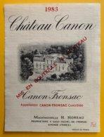 11977 - Château Canon 1983 Canon Fronsac - Bordeaux