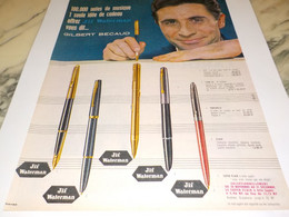 ANCIENNE  PUBLICITE  GILBERT BECAUD ET JIF WATERMAN 1960 - Other Collections