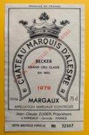 11978 - Château Marquis D'Alesme 1979 Margaux - Bordeaux