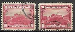 HAITI    -    1939 .   Y&T N° 269 / 269A  Oblitérés.   Fort National. - Haïti