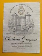 11979 - Château Greysac 1972 Médoc - Bordeaux