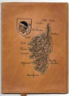 Liseuse Couvre Livre En Cuir Avec Gravure De La Corse - Other Collections