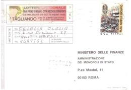 1996 £750 JUVENTUS CAMPIONE D'EUROPA SU CARTOLINA LOTTERIA NAZIONALE - Equipos Famosos