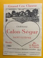 11981 - Château Calon-Ségur 1983 Saint-Estèphe - Bordeaux