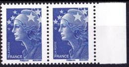 VARIETE N°4188d MARIANNE DE BEAUJARD TVP BLEU PAIRE SANS PHOSPHORE TOTAL LUXE - Variétés Et Curiosités
