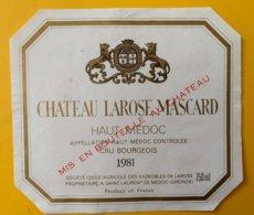 11984 - Château Larose Mascard 1981 Haut-Médoc - Bordeaux