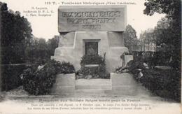 CP 75 Paris Cimetière Père Lachaise Monument Aux Soldats Belges Morts Pour La France 112T JH - Other Monuments