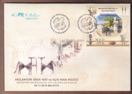 AC -  TURKEY FDC  - ARSLANTEPE ARCHEOLOGICAL SITE AND OPEN - AIR MUSEUM MALATYA, 06 NOVEMBER 2019 - FDC