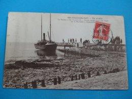 """17 ) Ile D'aix - Braun N° 2861 - Le Bateau """" Le Boyardville """" Faisant Escale """"  -   Année  - EDIT - - France"""