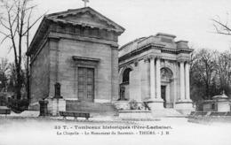 CP 75 Paris Cimetière Père Lachaise Thiers La Chapelle Monument Souvenir Tombeaux Historiques 53T JH Boisson - Other Monuments