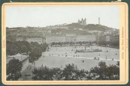 Photo Fin XIXème 69 Rhône Lyon Place Bellecour Tirage Albuminé Ca. 1899 - Photos