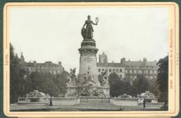 Photo Fin XIXème 69 Rhône Lyon Monument De La République Tirage Albuminé Ca. 1899 - Photos