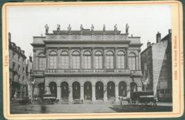 Photo Fin XIXème 69 Rhône Lyon Le Grand Théatre Tirage Albuminé Ca. 1899 - Photos