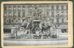 Photo Fin XIXème 69 Rhône Lyon Fontaine Bartholdi Tirage Albuminé Ca. 1899 - Photos