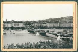 Photo Fin XIXème 69 Rhône Lyon Pont Morand Et Quai Saint-Clair Tirage Albuminé Ca. 1899 - Photos
