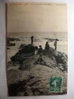 Carte Postale Les Sables D'Olonne (85) Côte Sauvage (Petit Format Noir Et Blanc Oblitérée 1908 Timbre 5 Centimes ) - Sables D'Olonne