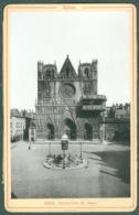 Photo Fin XIXème 69 Rhône Lyon Cathédrale Saint-Jean Tirage Albuminé Ca. 1899 - Photos