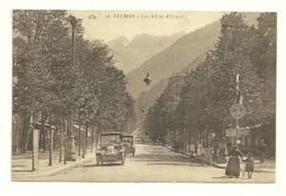 GARONNE / Haute - Dépt N° 31 = BAGNERES De LUCHON 1924 = CPA  Animée CAP N° 12 = Allées ETIGNY + FETE FLEURS - Luchon