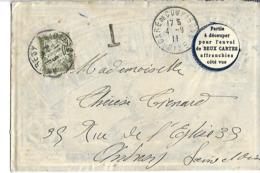 Rare Enveloppe Décorée à L'intérieur : LouisXI Chape Marque CROISSANT 1911 - Vieux Papiers