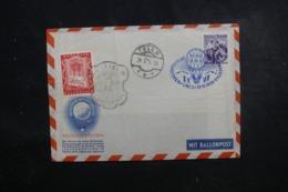 AUTRICHE - Enveloppe Par Ballon En 1956, Affranchissement Et Cachets Plaisants - L 44547 - Ballonpost