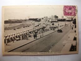 Carte Postale Les Sables D'Olonne (85) Promenade Du Remblai - Quai Wilson  (Petit Format Oblitérée 1933 Timbre 20 C ) - Sables D'Olonne