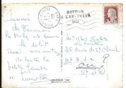 BRUYERES LE CHATEL Seine Et Oise Retour à L'envoyeur N° 662 De 1961 Cp VILLERS COTTERETS     ...G - Marcophilie (Lettres)