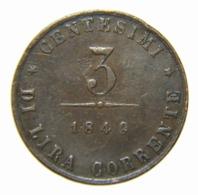 [NC] GOVERNO PROVVISORIO DI VENEZIA - 3 CENTESIMI 1849 (nc4579) - Regionales Geld