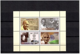 Tajikistan 2019 . 150 Years Of  Mahatma Gandhi (Flags,Trains,Rocket). S/S:2.00,2.50,3.50,4.80 - Tadschikistan