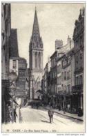 Carte Postale 14. CAEN   La Rue St-Pierre Le Facteur - Caen