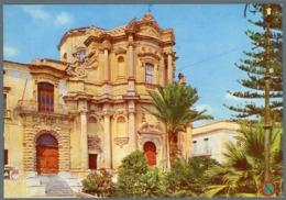 °°° Cartolina - Noto Chiesa S. Domenico E Istituto Magistrale Nuova °°° - Siracusa