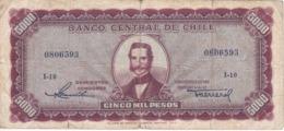 BILLETE DE CHILE DE 5000 PESOS DEL AÑO 1947  (BANK NOTE) - Chile