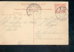 Mook Grootrond - Wormerveer Langebalk - 1912 - Marcophilie