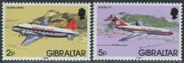 Gibraltar 1986. Michel #433+436 Y-III (1986) MNH/Luxe. Airplane (Ts27) - Gibraltar