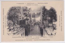 75 PARIS Magasins De L'Union ,avenue De L'Opéra Intérieur Magasin , Vente Porcelaines De Saxe - Distrito: 01