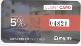 Moldova , Mylife , Privilegy Card , Fidelity Card , RARE +++ - Other