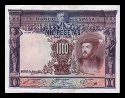 España Spain 1000 Pesetas Carlos I 1925 Pick 70c MBC VF - [ 1] …-1931 : Premiers Billets (Banco De España)