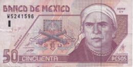 BILLETE DE MEXICO DE 50 PESOS  DEL AÑO 2000  (BANKNOTE) - Messico