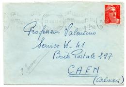 GARONNE / Haute - Dépt N° 31 = BAGNERES De LUCHON  1948 =  Flamme Thème SPORT =  KRAG  SUPERBAGNERES / CHAMPIONNATS SKI' - Marcofilia (sobres)