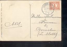 OUdendijk Langebalk - 1917 - Poststempel