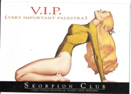 PUBLICITÉ CLUB SKORPION  MILAN ITALIE EDIT. PROMOCARD 2800 FEMME SEXY - Publicité