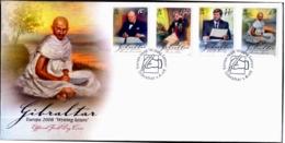 MAHATMA GANDHI-CHURCHILL-NELSON-JF KENNEDY-FDC-GIBRALYAR-EUROPA-2008-SCARCE-G-466 - Mahatma Gandhi