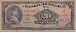 BILLETE DE MEXICO DE 20 PESOS DEL AÑO 1967   (BANKNOTE) - Messico