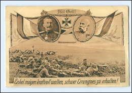 U6540/ Kaiser Wilhelm U. Franz Josef  1. Weltkrieg AK 1914  Zeppelin - Guerre 1914-18