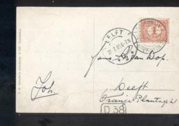 Delft Langebalk Noordwijk Noordwijk A/zee 1 - 1909 - Marcofilia