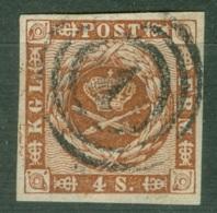 Danemark  Yvert 8  Ob TB - 1851-63 (Frederik VII)
